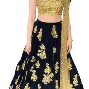 New Semi-Stitched Lehenga, Choli and Duppatta